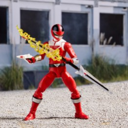 power rangers lightning collection time force red ranger - holding staff