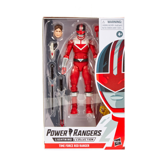 power rangers lightning collection time force red ranger -package front