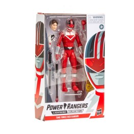 power rangers lightning collection time force red ranger - packge side