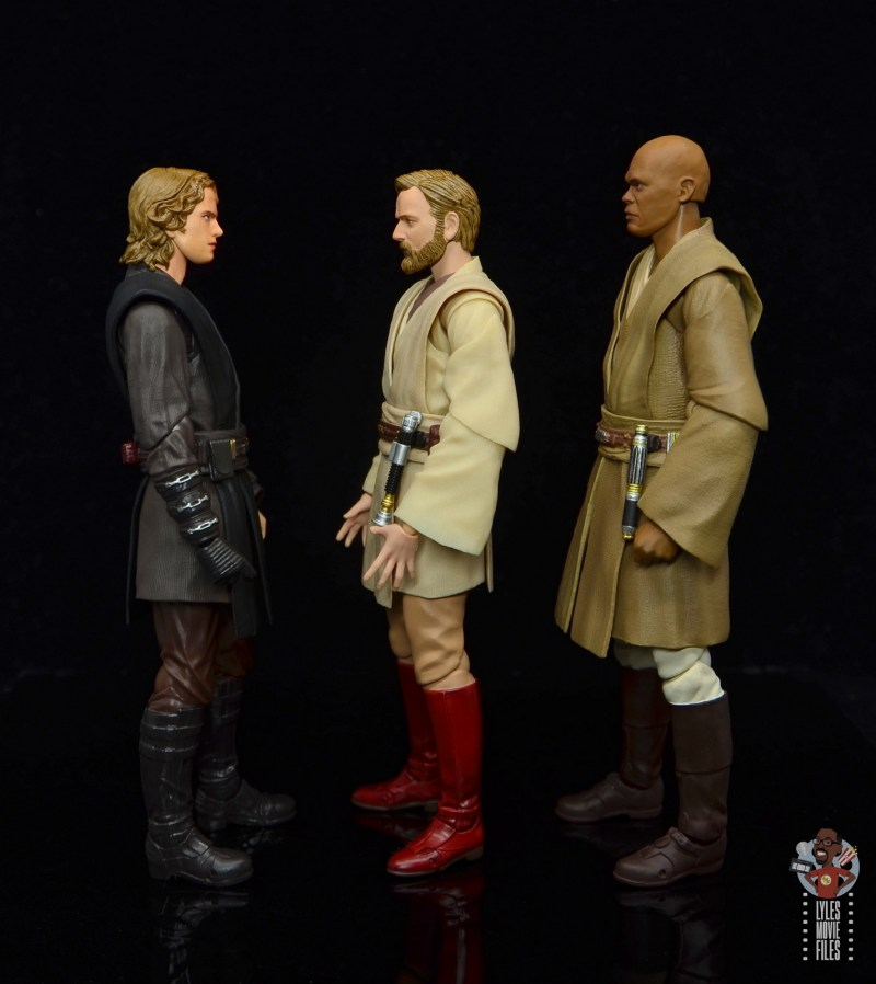 sh figuarts obi-wan kenobi revenge of the sith figure review - facing anakin and mace
