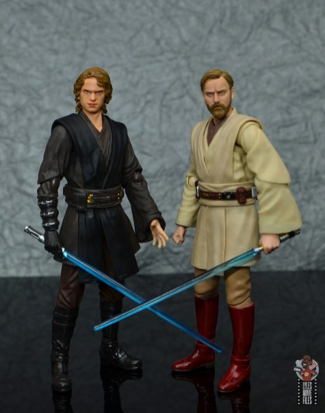 sh figuarts obi-wan kenobi revenge of the sith figure review - standing with anakin skywalker