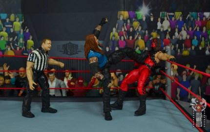 wwe elite 68 american badass undertaker figure review -kicking kane in the corner