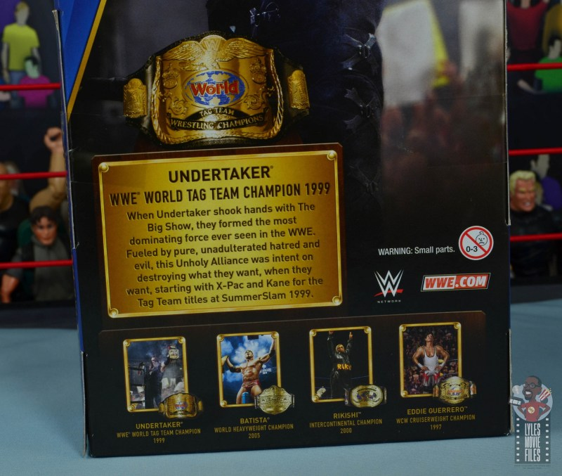 wwe hall of champions undertaker figure review - package bio