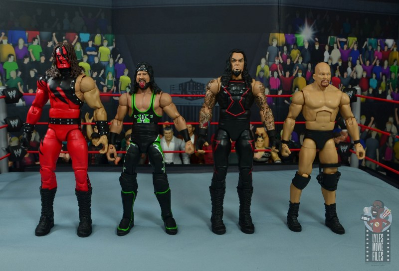 wwe hall of champions undertaker figure review - scale with kane, x-pac and stone cold steve austin