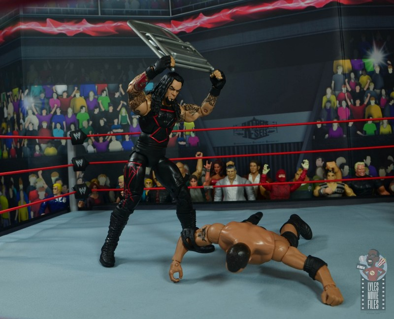 wwe hall of champions undertaker figure review - taking chair to the rock
