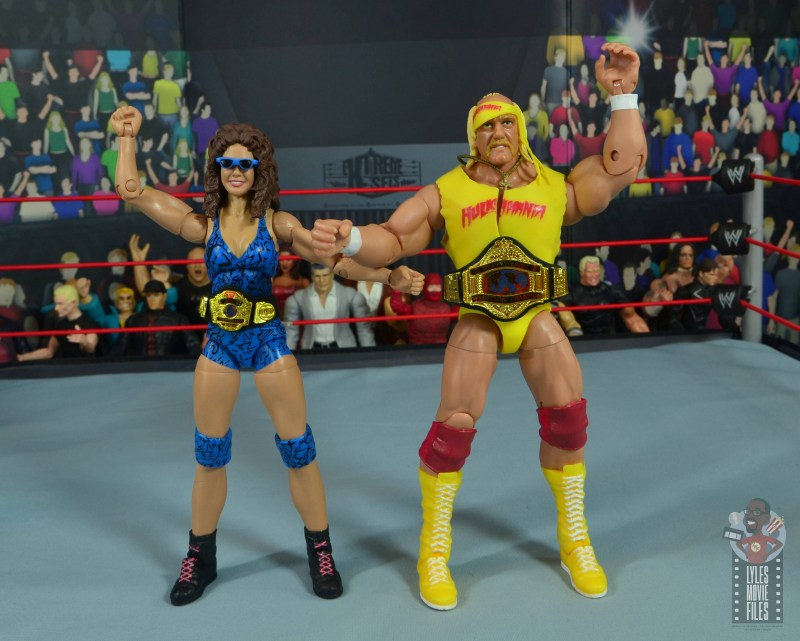 wwe network spotlight wendi richter figure review - with hulk hogan