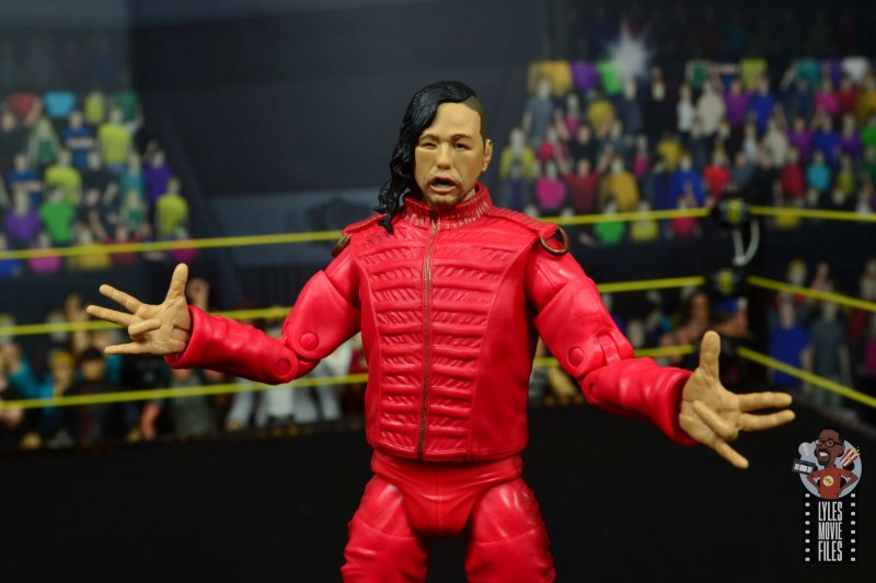 wwe ultimate edition shinsuke nakamura figure review - arms out