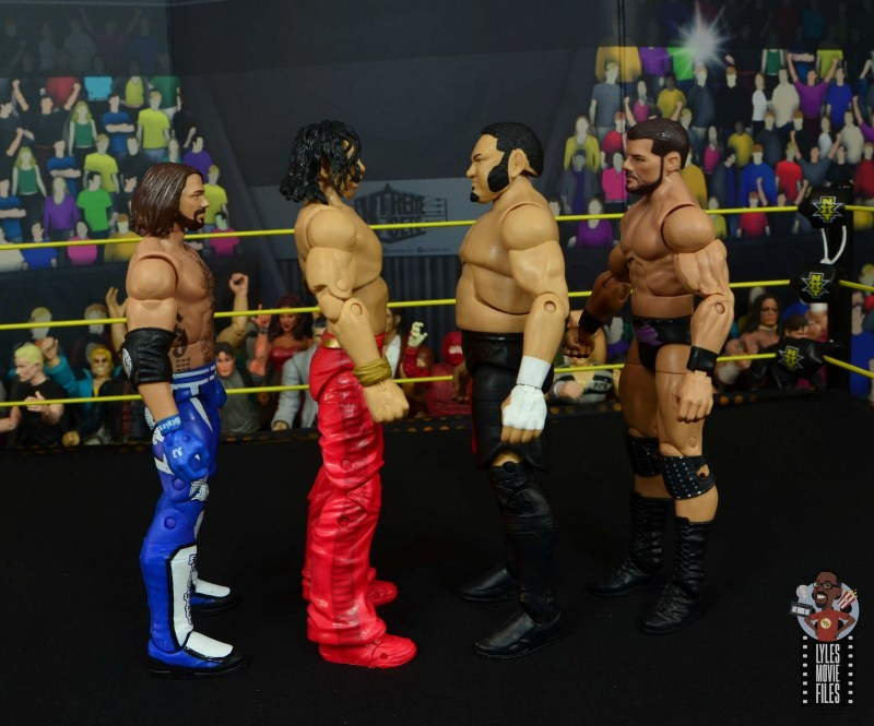 wwe ultimate edition shinsuke nakamura figure review - facing aj styles, samoa joe and bobby roode