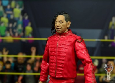 wwe ultimate edition shinsuke nakamura figure review - left side smirking face