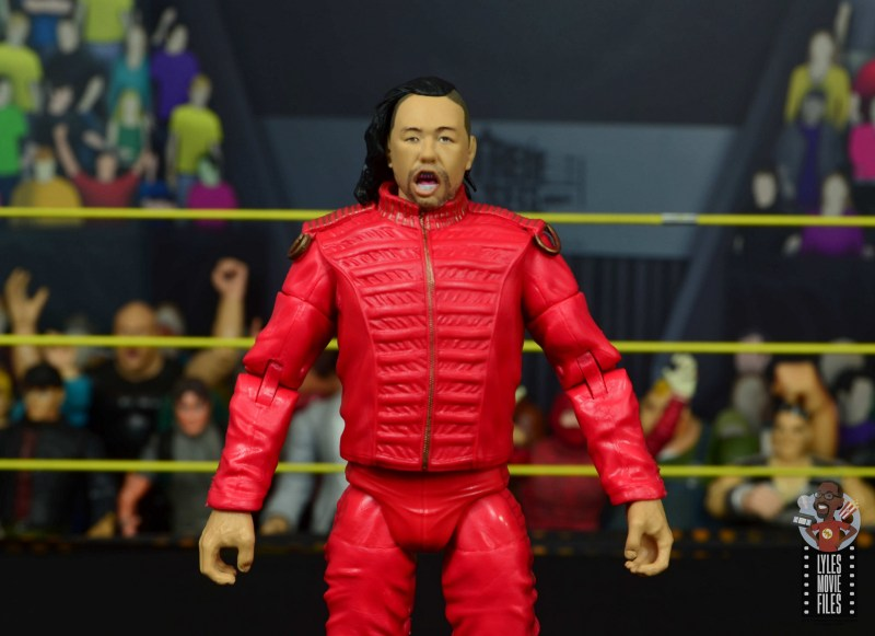 wwe ultimate edition shinsuke nakamura figure review - open mouth head sculpt