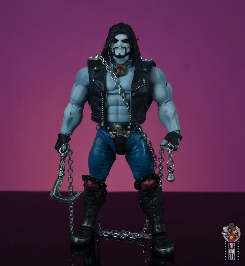 dc multiverse lobo figure review - holding chain