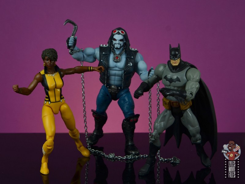 dc multiverse lobo figure review - justice league america with vixen and batman