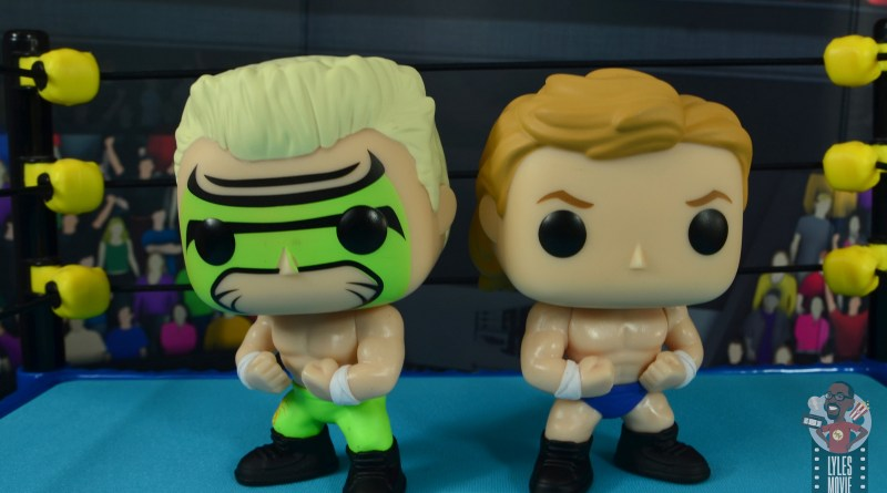 funko pop sting and lex luger fye exclusive figure set review - side by side