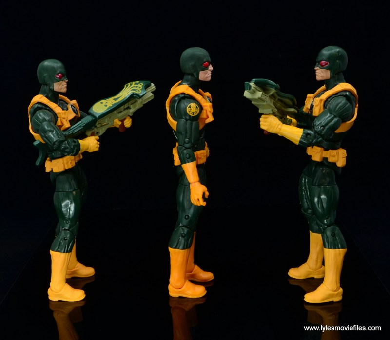 marvel legends hydra soldier figure review - flanked by original hydra soldiers