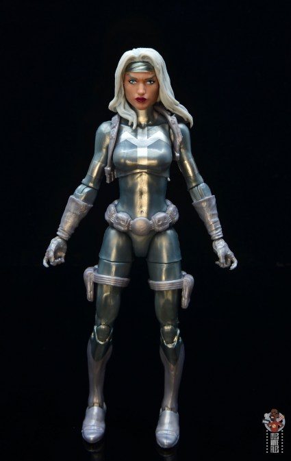 marvel legends silver sable figure review - front