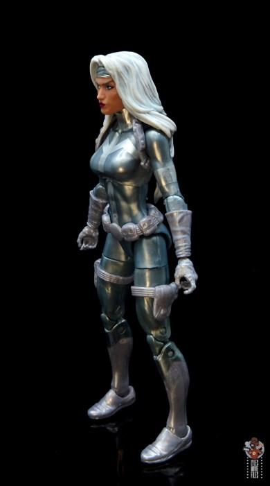 marvel legends silver sable figure review -left side