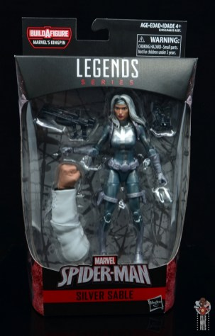 marvel legends silver sable figure review -package front