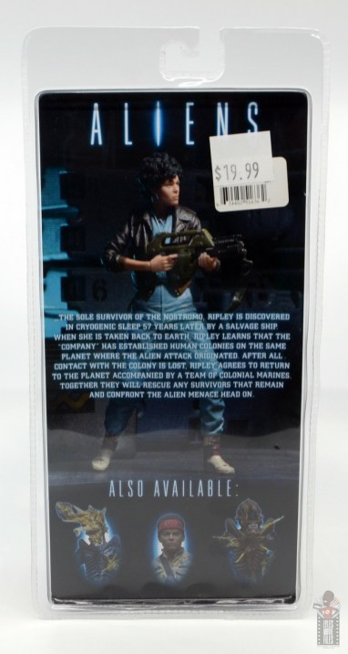 neca aliens ripley bomber jacket figure review - package rear