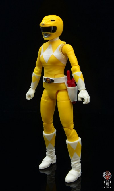 power rangers lightning collection mighy morphin yellow ranger figure review -left side