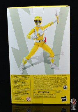 power rangers lightning collection mighy morphin yellow ranger figure review - package rear