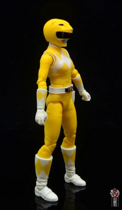 power rangers lightning collection mighy morphin yellow ranger figure review - right side