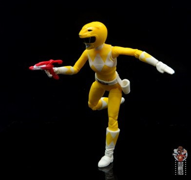 power rangers lightning collection mighy morphin yellow ranger figure review - running with blaster