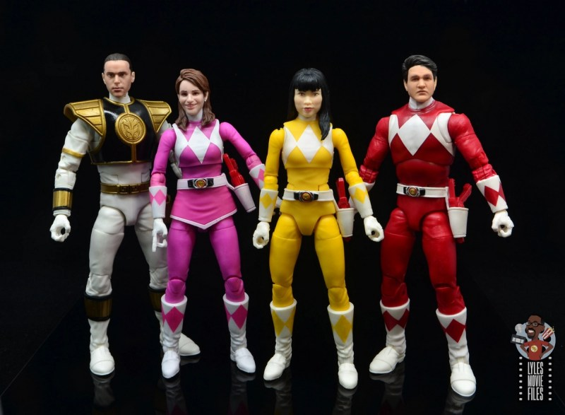 power rangers lightning collection mighy morphin yellow ranger figure review - tommy, kimberly, trini and jason