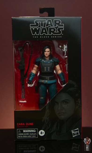 star wars the black series cara dune figure review - package front
