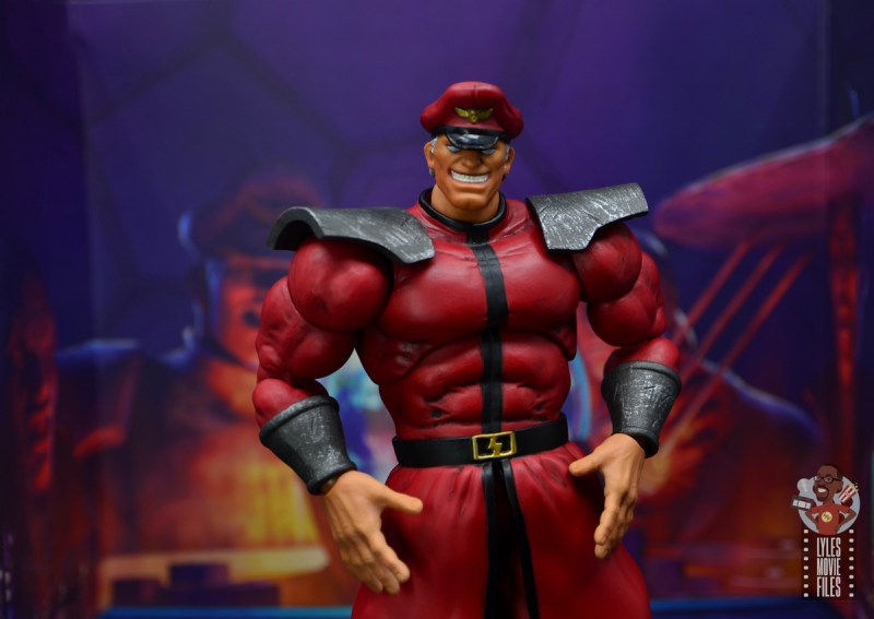 storm collectibles street fighter m. bison figure review - backdrop