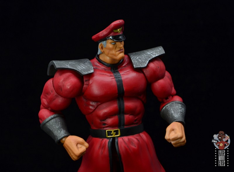 storm collectibles street fighter m. bison figure review - elbows back