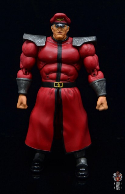 storm collectibles street fighter m. bison figure review - front
