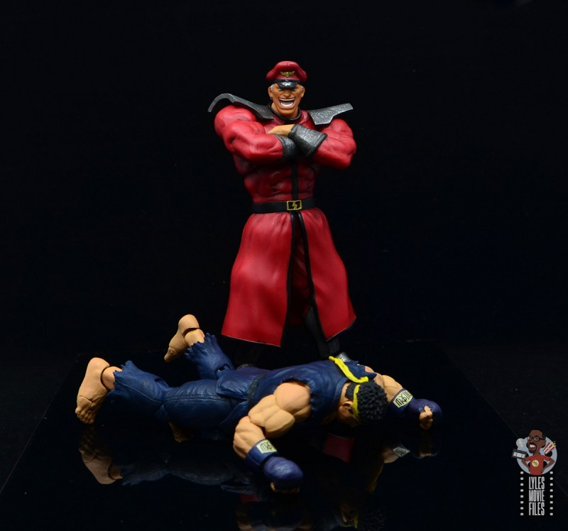 storm collectibles street fighter m. bison figure review - victorius over ryu