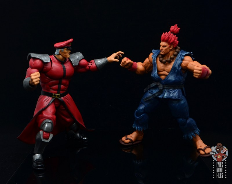 storm collectibles street fighter m. bison figure review - vs akuma