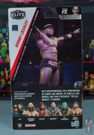 wwe elite 69 bobby lashley figure review - package rear