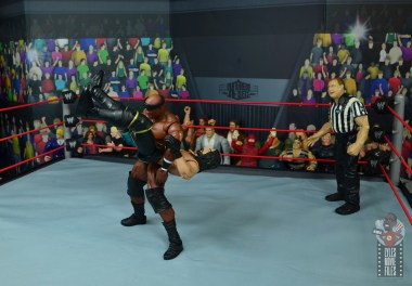 wwe elite 69 bobby lashley figure review - sidewalk slam to seth rollins