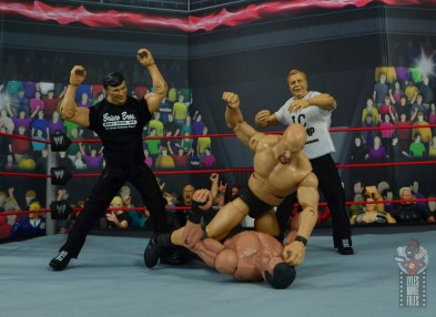 wwe elite gerald brisco figure review -helping mcmahon against stone cold