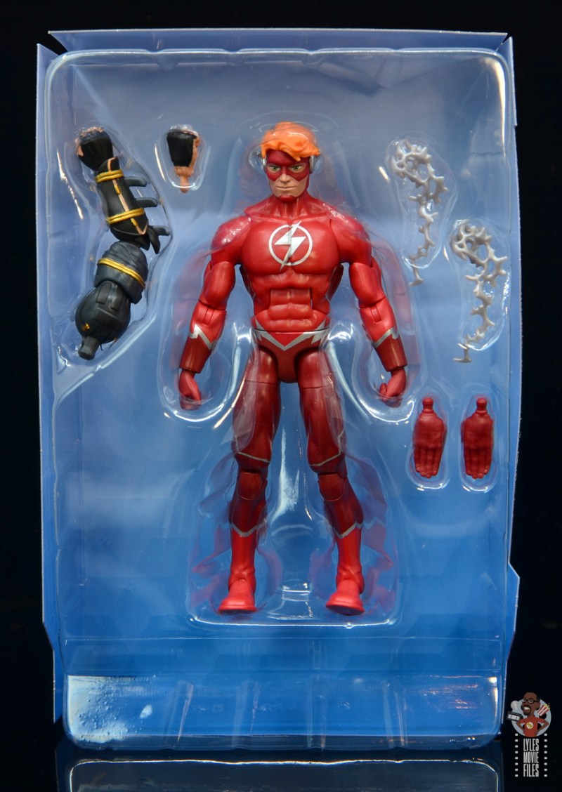 dc multiverse wally west figure review - package insert