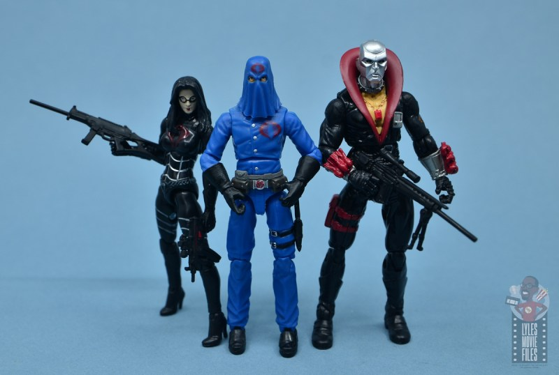 gi joe the eagle's edge figure review set - destro with baroness and cobra commander