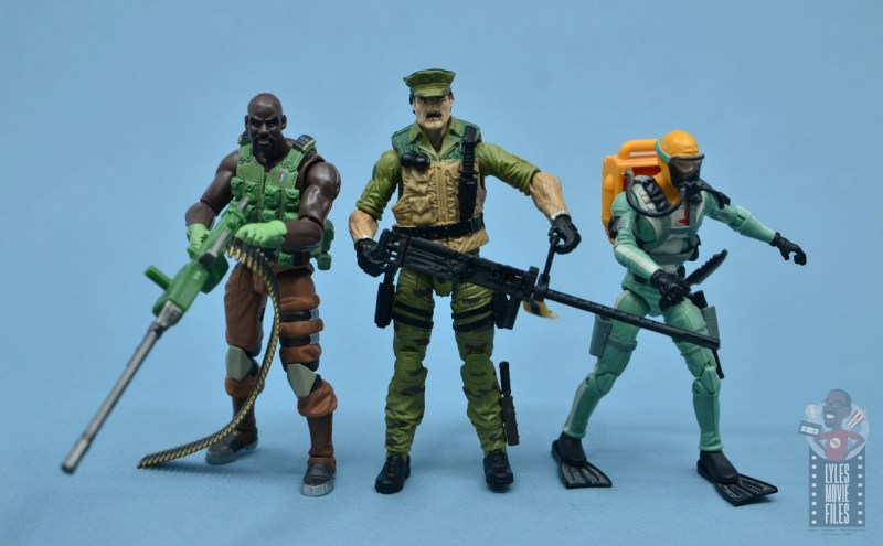 gi joe the eagle's edge figure review set - leatherneck with roadblock and wet suit