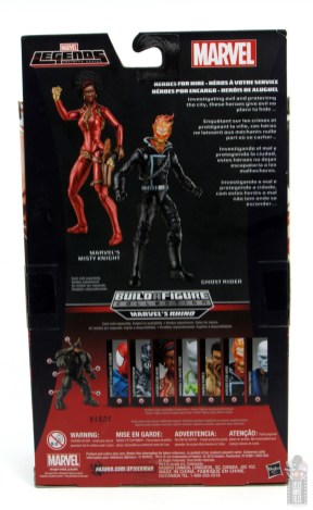 marvel legends ghost rider figure review - package rear