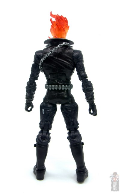 marvel legends ghost rider figure review - rear