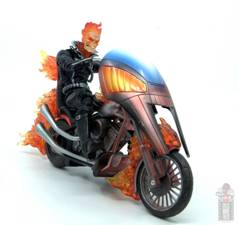 marvel legends ghost rider figure review - riding motorcycle