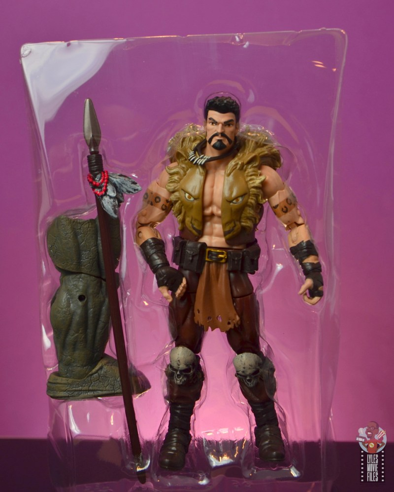 marvel legends kraven figure review - accessories in tray