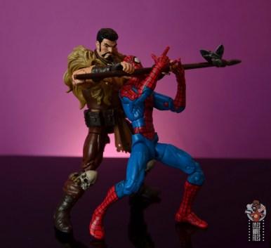 marvel legends kraven figure review -choking out spider-man