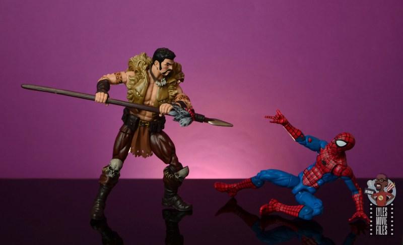 marvel legends kraven figure review - got the drop on spider-man