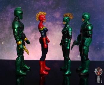 marvel legends starforce captain marvel figure review - facing genis-vell, captain marvel and yon-rogg