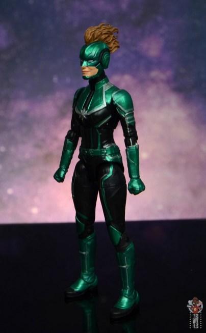 marvel legends starforce captain marvel figure review - left side