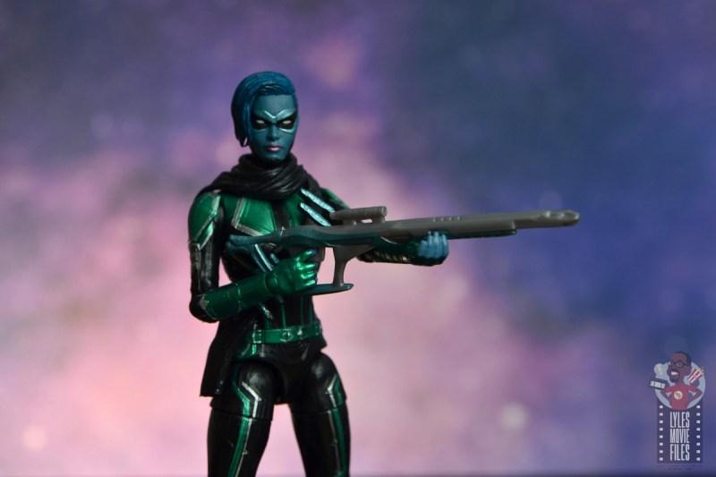 marvel legends starforce captain marvel figure review - minn-erva with sniper rifle