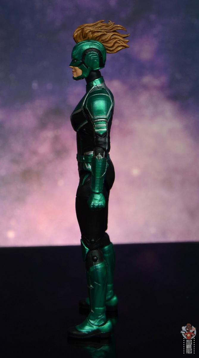 marvel legends starforce captain marvel figure review - side detail