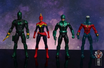 marvel legends yon-rogg figure review - scale with genis-vell and captain marvel